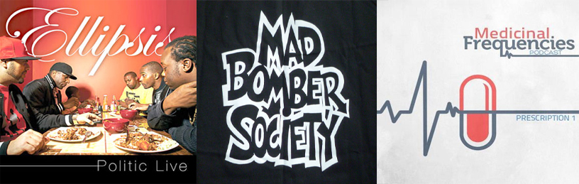 Politic Live and Mad Bomber Society added, as well as new Podcast section… Big up!